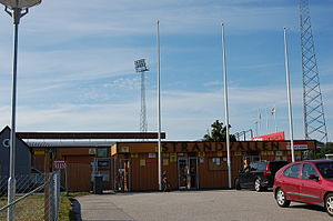Mjällby AIF - Main entrance to Strandvallen.