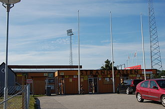 Mjällby AIF - Main entrance to Strandvallen.