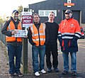 Striking postmen at the Royal Mail Bowthorpe depot in 2009.jpg