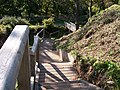 Sturdy stairway leading down to the Moat Bridge at Aberlleiniog Castle - geograph.org.uk - 1542562.jpg