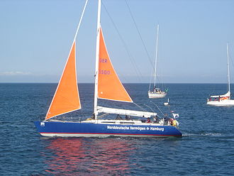 Trysail - A modern yacht with a trysail set