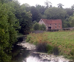 English: Sturminster Newton mill. Seen from th...