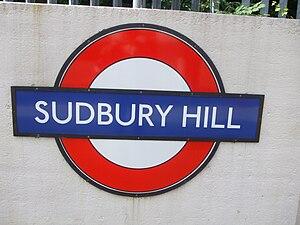 Sudbury Hill tube station - Image: Sudbury Hill stn roundel