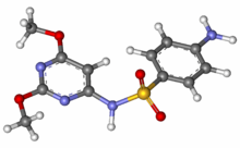 Sulfadimethoxine ball-and-stick model.png