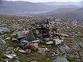 Summit cairn, Creag Dhubh Fannaich - geograph.org.uk - 51349.jpg