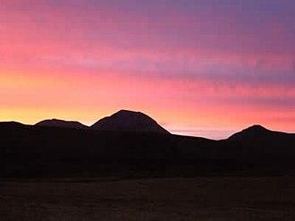 Beinn an Òir - Sunset over Beinn an Òir and Beinn Shiantaidh with Corra Bheinn to the right