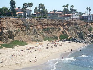 Sunset Cliffs, San Diego - A swimming beach at the base of the Sunset Cliffs