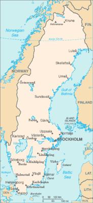 Svezia - Mappa