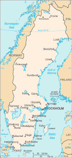 List Of Cities In Sweden Wikipedia - Map 0f sweden