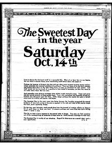 Sweetest day wikipedia full page sweetest day editorial published in the cleveland plain dealer on october 8 1922 m4hsunfo