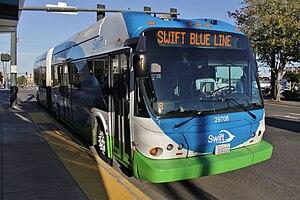 Swift Blue Line - A Blue Line bus in Everett