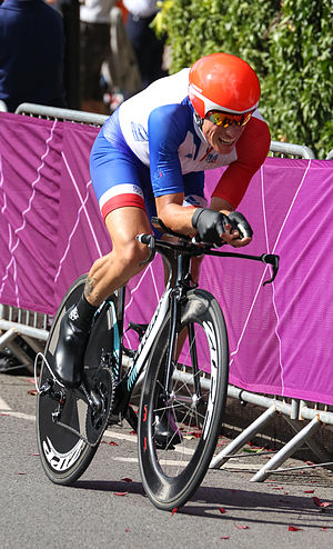 Sylvain Chavanel - Chavanel competing in the 2012 Olympics time trial in London