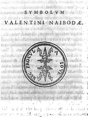 Valentin Naboth - Image: Symbolvm Valentini Naibodae