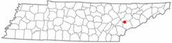 Location of Louisville, Tennessee