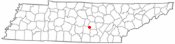 Location of Morrison, Tennessee