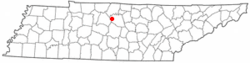 Location in Wilson County and the state of Tennessee