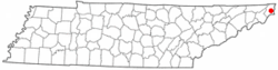 Location of Mountain City, Tennessee