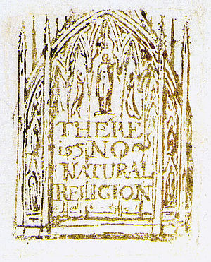 There is No Natural Religion - Title page from There is No Natural Religion, printed c1794