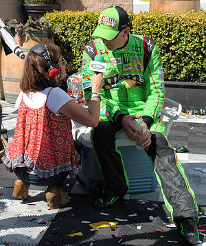 Sirius XM NASCAR Radio - Dialed In host Claire B. Lang interviews Kyle Busch after he won the 2015 Toyota/Save Mart 350
