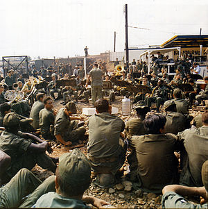 United States Army Band - The United States Army Band plays Christmas music at the Tan Son Nhut Air Base in Vietnam during the holiday season in late December 1970.