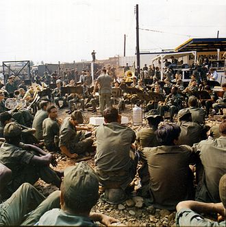 460th Space Wing - The Army Band plays Christmas music at the Tan Nhut Airbase during the holiday season. 22–29 Dec 1970