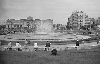 Tahrir Square public town square in Downtown Cairo, Egypt