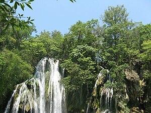 Ciudad Valles - View of the Tamasopo Falls in San Luis Potosí