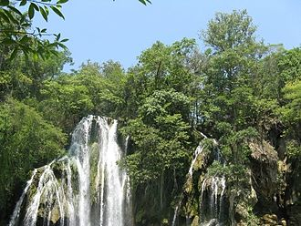Ciudad Valles - View of the Tamasopo Falls in San Luis Potosí