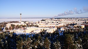 Pirkanmaa - Image: Tampere from Pyynikki in Winter