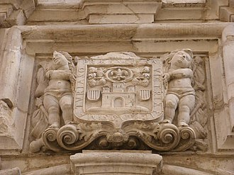 Tarazona - Coat of arms of Tarazona in the iglesia de San Atilano.