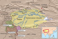 Map Of Asia Gobi Desert.Taklamakan Desert Wikipedia