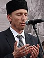 Tatar Man Speaks at May 18 Commemoration of Crimean Tatar Deportations-Genocide - Maidan Square - Kiev - Ukraine - 02 (27100498245).jpg