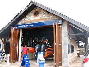 Teignmouth Lifeboat Station - Image: Teignmouth lifeboat station with B809