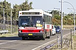 Telford's (TV 5293) Ansair bodied MAN SL200 on Ross Smith Ave at Sydney Airport.jpg