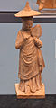 Terracota statue young woman with hat and mirror 3d century BC 01.jpg