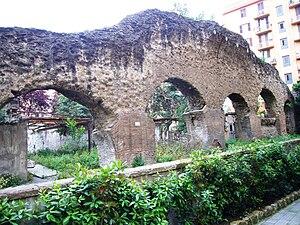 Porticus Aemilia - Testaccio, remains arguably pertaining to the Porticus Aemilia