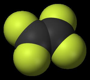 Tetrafluoroethylene - Image: Tetrafluoroethylene 3D vd W