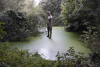 Saint Mary, Jersey - Close to Devil's Hole, in a little tree covered pond, is the figure of the Devil.