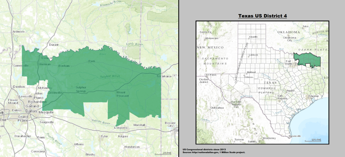 Map Of Texas District 7.Texas S 4th Congressional District Wikipedia