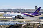 Thai Airways International, Boeing 777-200, HS-TJT - MAD (19143448174).jpg