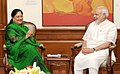 The Chief Minister of Rajasthan, Smt. Vasundhara Raje calling on the Prime Minister, Shri Narendra Modi, in New Delhi on June 08, 2015.jpg