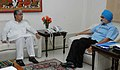 The Chief Minister of Tripura, Shri Manik Sarkar meeting with the Deputy Chairman, Planning Commission, Dr. Montek Singh Ahluwalia to finalize annual plan 2008-09 of the State, in New Delhi on April 28, 2008.jpg