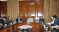 The Deputy Minister for Home Affairs of Myanmar, Brig. Gen. Phone Swe along with a delegation meeting with the Union Home Minister, Shri Shivraj V. Patil, in New Delhi on March 10, 2008.jpg
