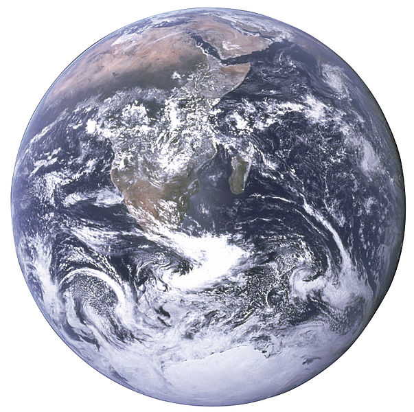 Planet Erde, fotographiert von Apollo