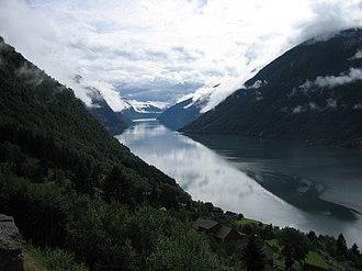 Fjærlandsfjorden - Image: The Fjærland fjord