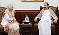 The Governor of Goa, Smt. Mridula Sinha calling on the Vice President, Shri M. Venkaiah Naidu, in New Delhi on January 09, 2018.jpg