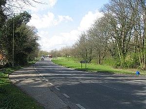 Harrow Way - The Harrow Way - overlying road in Basingstoke