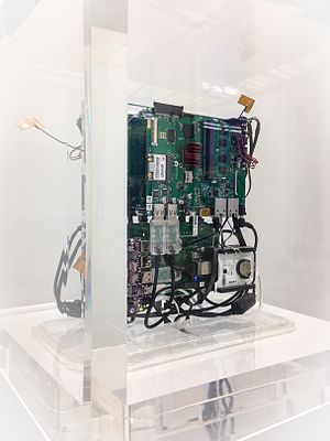 Jacob Appelbaum - One of several Autonomy Cubes on display.