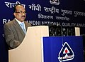 The Minister of State for Agriculture, Consumer Affairs, Food & Public Distribution, Prof. K.V. Thomas addressing at the presentation ceremony of the Rajiv Gandhi National Quality Awards 2009, in New Delhi.jpg