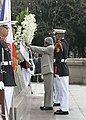 The President Dr. A.P.J. Abdul Kalam laying wreath at the RIZAL Monument in Manila, Philippines, on 4 February 2006.jpg